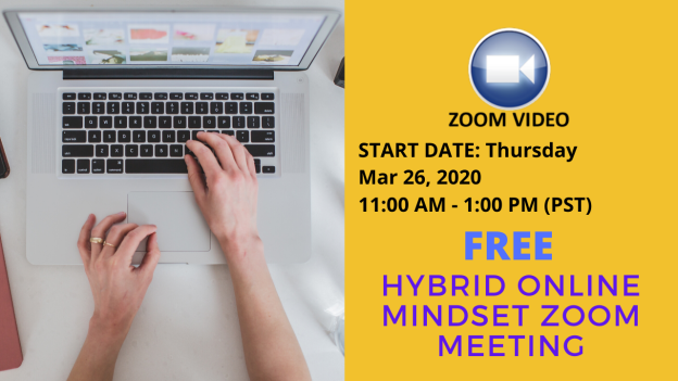 Hybrid Online Mindset ZOOM Meeting March 26th 2020